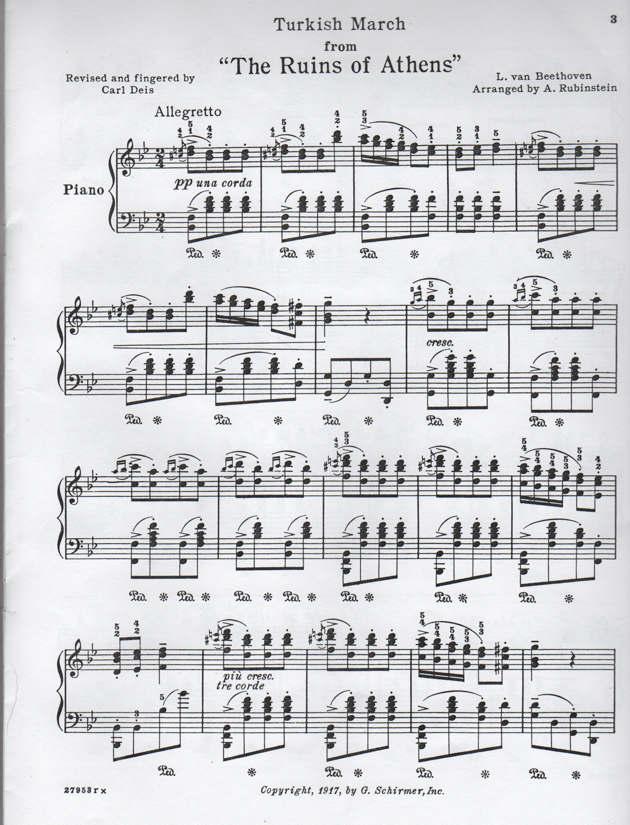 Rhythm Exercise Beethoven Turkish March – Beethoven Worksheet